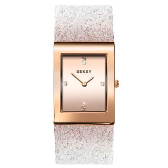 Seksy Rocks® Ladies' Rose Gold Plated Bracelet Watch - Product number 3375560