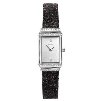 Seksy Rocks® Ladies' Black Swarovski Crystal Bracelet Watch - Product number 3375579