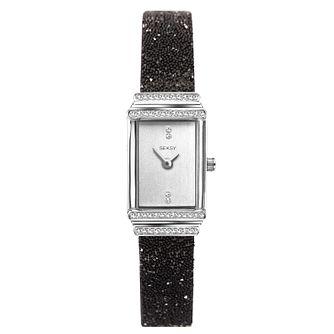 9c5a16211d59 Seksy Rocks® Ladies  Black Swarovski Crystal Bracelet Watch - Product  number 3375579