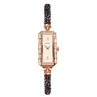 Seksy Rocks® Rose Gold Tone Swarovski Crystal Bracelet Watch - Product number 3375595