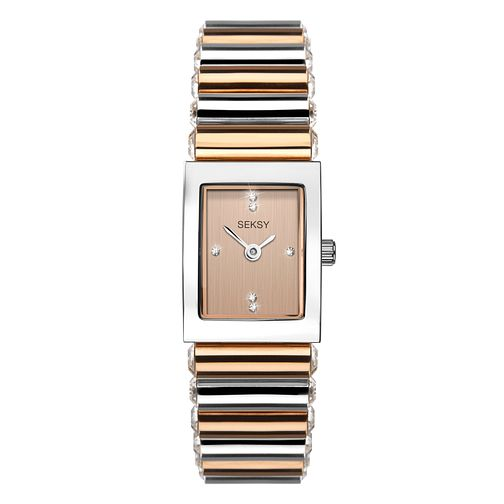 Seksy Edge Crystal Ladies' Two-Tone Bracelet Watch - Product number 3375625