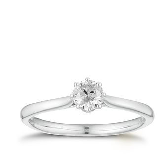18ct White Gold 1/4ct Diamond Solitaire Ring - Product number 3376079