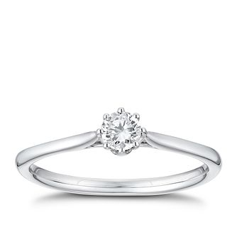 18ct White Gold 1/5ct Diamond Solitaire Ring - Product number 3376265