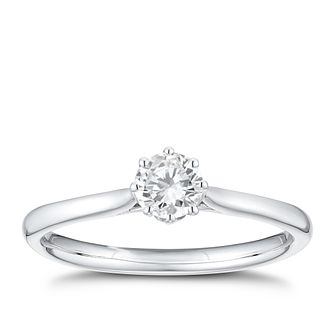 18ct White Gold 1/3ct Diamond Solitaire Ring - Product number 3376435