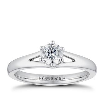 Platinum 1/2ct Forever Diamond Solitaire Ring - Product number 3384012