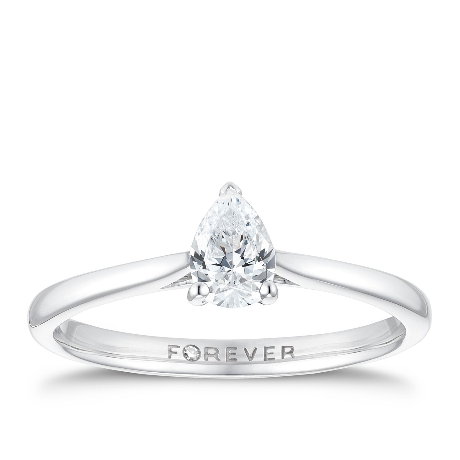 18ct White Gold 3/10ct Pear Forever Diamond Ring - Product number 3386511