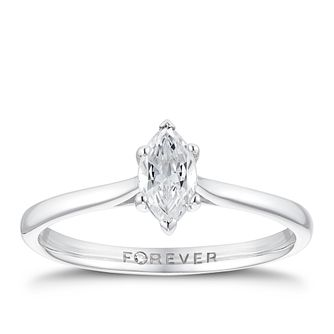 18ct White Gold 3/10ct Marquise Forever Diamond Ring - Product number 3386929