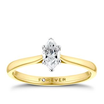 The Forever Diamond 18ct Yellow Gold 0.30ct Ring - Product number 3387771