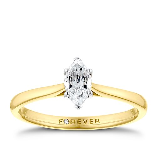 18ct Yellow Gold 3/10ct Marquise Forever Diamond Ring - Product number 3387771