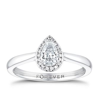 The Forever Diamond 18ct White Gold 0.35ct Total Ring - Product number 3387933