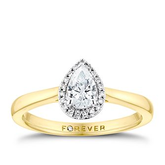 The Forever Diamond 18ct Yellow Gold 0.35ct Total Ring - Product number 3388107