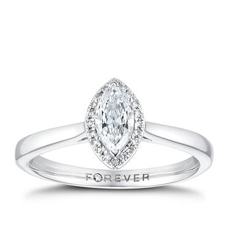 The Forever Diamond 18ct White Gold 0.35ct Total Ring - Product number 3388514