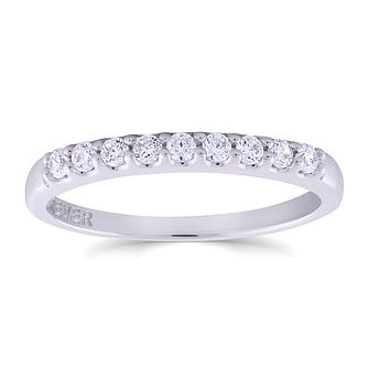 18ct White Gold 1/5ct Forever Diamond Eternity Ring - Product number 3389189