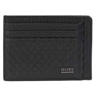 BOSS Crosstown Men's Black Leather Cardholder - Product number 3391809