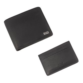 BOSS Men's Black Leather Wallet & Cardholder Gift Set - Product number 3391841