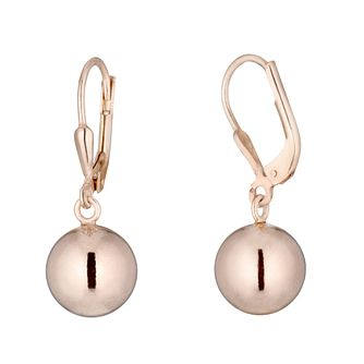 Rose Gold Plated Bead Drop Earrings - Product number 3391957
