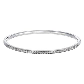 Silver Cubic Zirconia Bangle - Product number 3392252