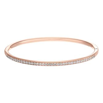 Rose Gold Tone Cubic Zirconia Bangle - Product number 3392260