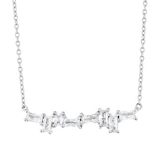 Silver Cubic Zirconia Multi Baguette Necklace - Product number 3392376