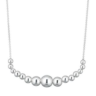 Silver Graduated Bead Necklace - Product number 3392473
