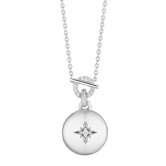 Silver Cubic Zirconia Round Star Locket - Product number 3392570