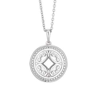 Silver Fancy Engraved Locket - Product number 3392589