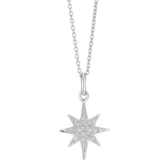 Silver Cubic Zirconia Star Pendant - Product number 3392619