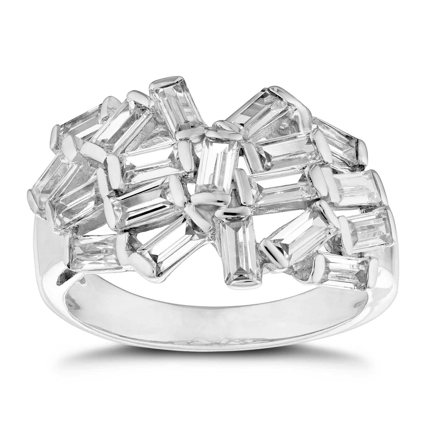 Silver Cubic Zirconia Multi Baguette Ring - Product number 3393992