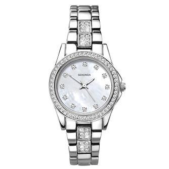 Sekonda Editions Ladies' Crystal Silver Tone Bracelet Watch - Product number 3394301