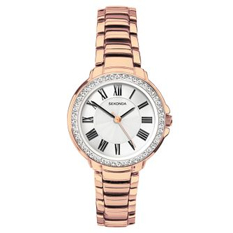Sekonda Ladies' Rose Gold Plated Bracelet Watch - Product number 3394328