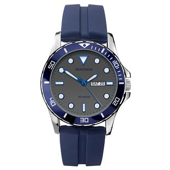 Sekonda Men's Blue Rubber Strap Watch - Product number 3394395