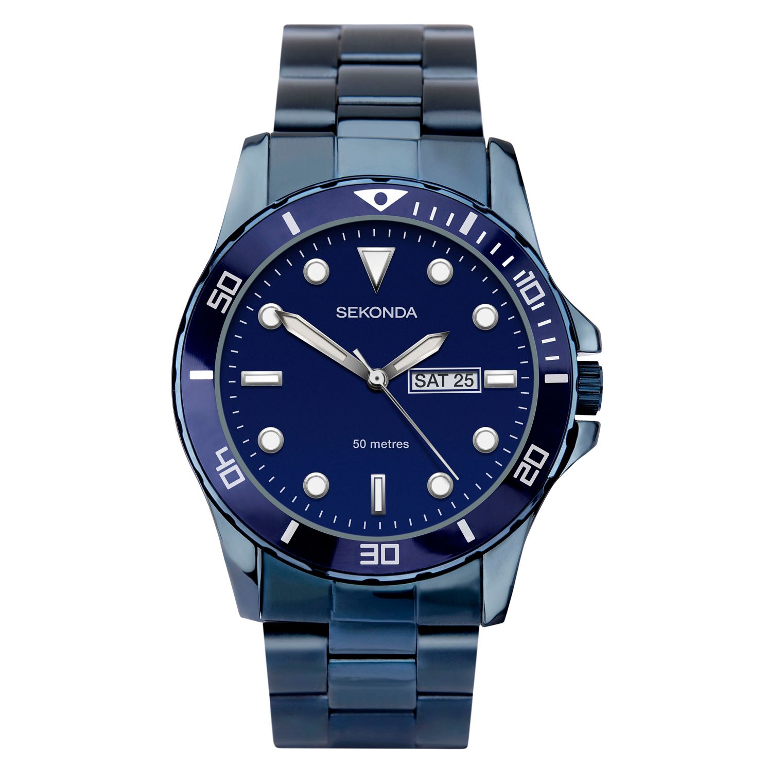 Sekonda Men's Blue Stainless Steel Bracelet Watch - Product number 3394409