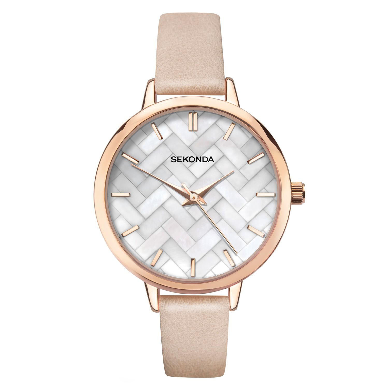 Sekonda Editions Ladies' Pink PU Strap Watch - Product number 3394530