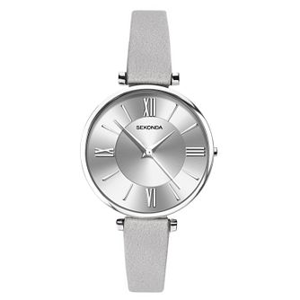 Sekonda Editions Ladies' Grey Leather Strap Watch - Product number 3394549