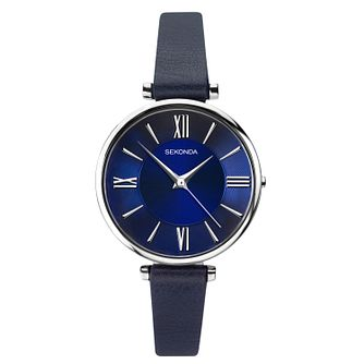Sekonda Editions Ladies' Blue Sunray Leather Strap Watch - Product number 3394670