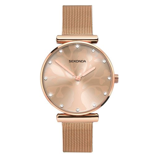 Sekonda Tree Of Life Ladies' Rose Gold Tone Bracelet Watch - Product number 3394794