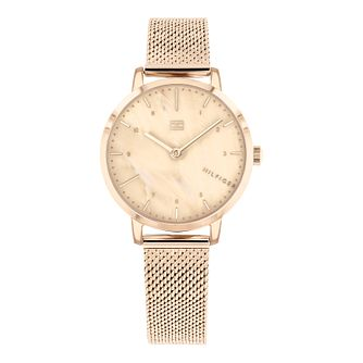 Tommy Hilfiger Lily Ladies' Rose Gold Plated Bracelet Watch - Product number 3395308