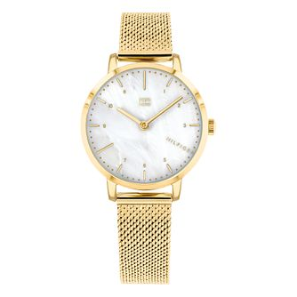 Tommy Hilfiger Lily Ladies' Gold Plated Bracelet Watch - Product number 3395316