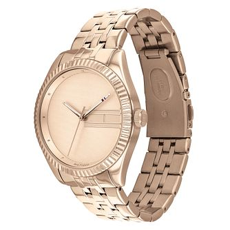 Tommy Hilfiger Lee Ladies' Rose Gold Tone Bracelet Watch - Product number 3395383