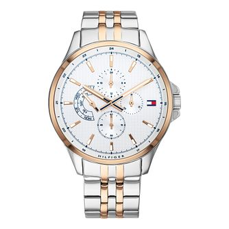 Tommy Hilfiger Shawn Men's Two Tone Bracelet Watch - Product number 3395820