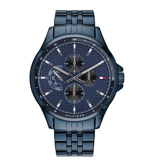 Tommy Hilfiger Shawn Men's Blue Ip Bracelet Watch - Product number 3395847