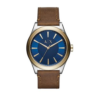 Armani Exchange Men's Brown Leather Strap Watch - Product number 3395960