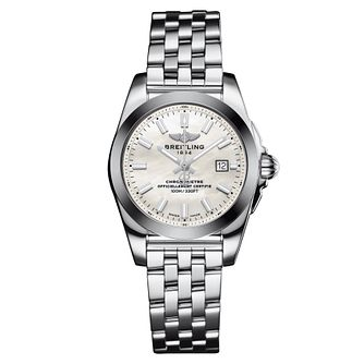 Breitling Galactic 29 Ladies' Mother Of Pearl Bracelet Watch - Product number 3396045