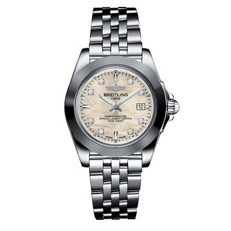 Breitling Galactic 32 Ladies' Mother Of Pearl Bracelet Watch - Product number 3396533