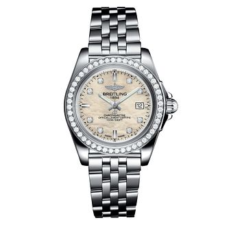 Breitling Galactic 32 Ladies' Mother Of Pearl Bracelet Watch - Product number 3396541