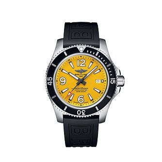 Breitling Superocean 44 Men's Black Rubber Strap Watch - Product number 3396576