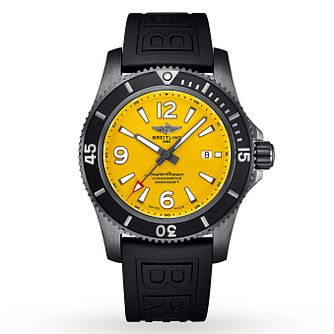 Breitling Superocean Men's Black Rubber Strap Watch - Product number 3396584