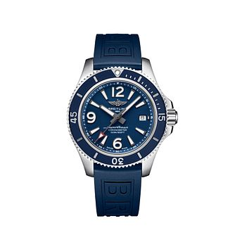 Breitling Superocean Automatic 42 Blue Leather Strap Watch - Product number 3396770