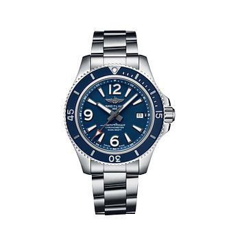 Breitling Superocean Automatic 42 Blue Bracelet Strap Watch - Product number 3396789