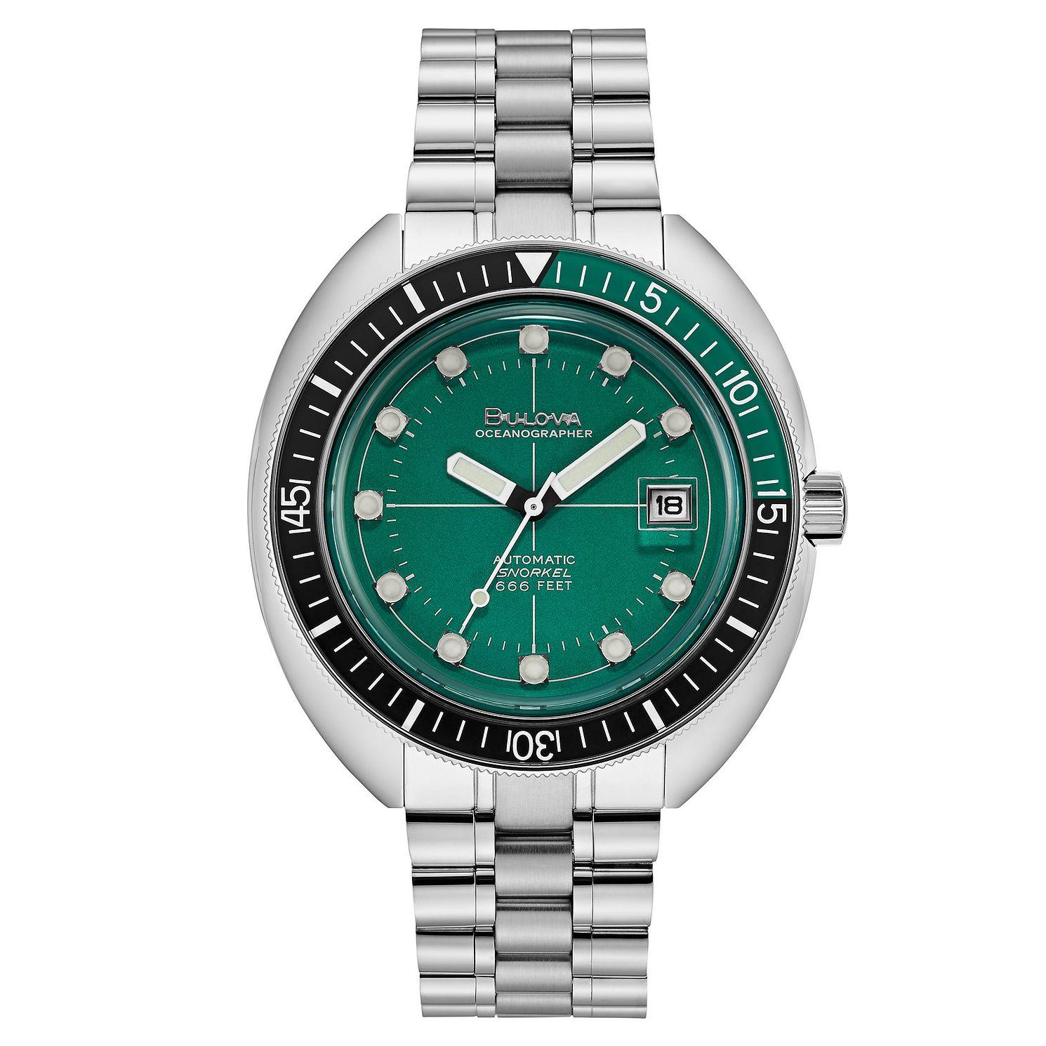 Bulova Oceanographer Men's Stainless Steel Bracelet Watch - Product number 3396827